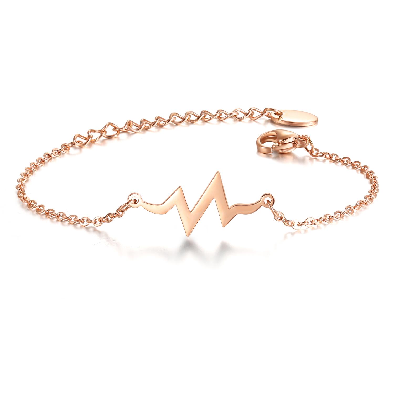 Heartbeat Bracelet Rosé Gold