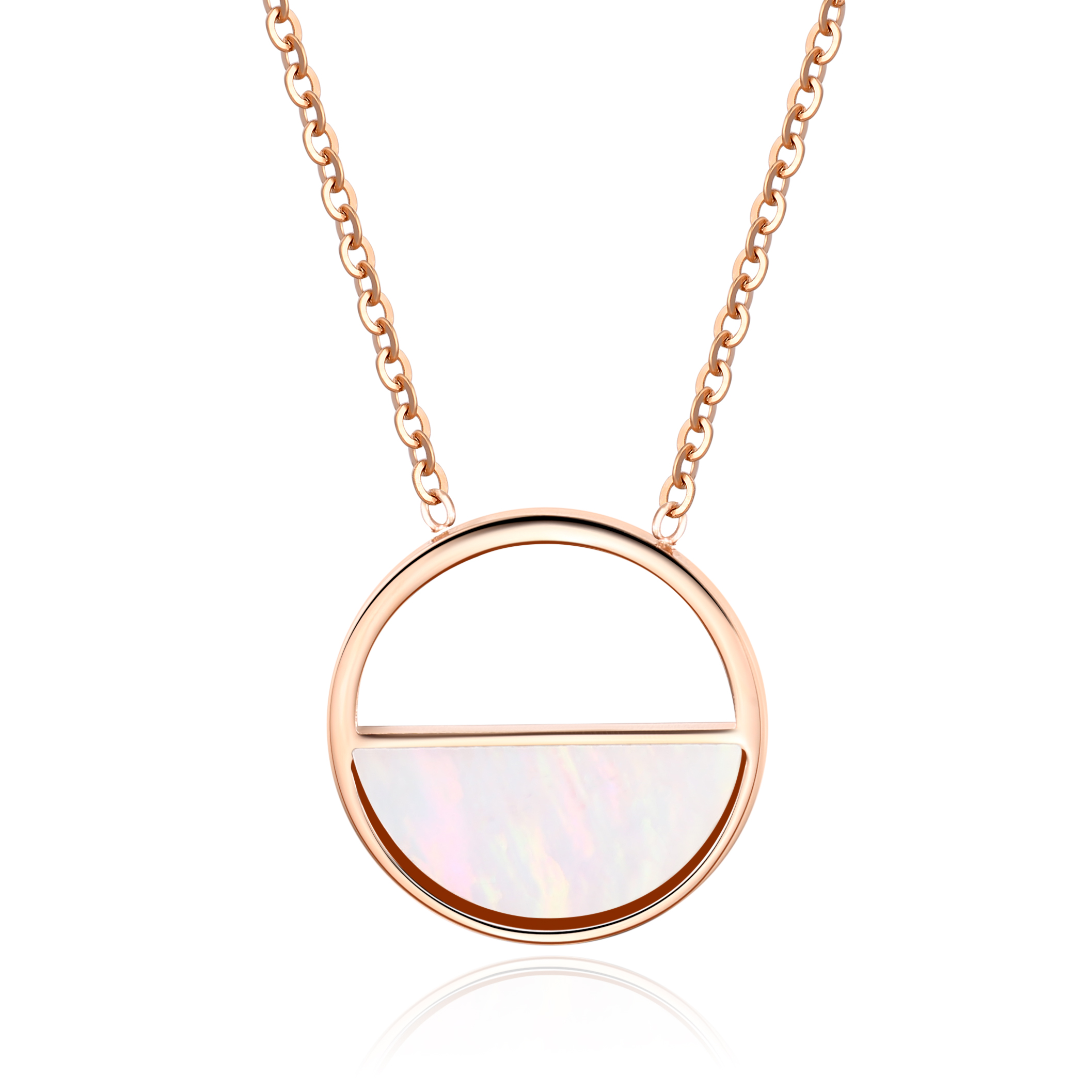 Seashell Necklace Ros Gold Victoria Grey
