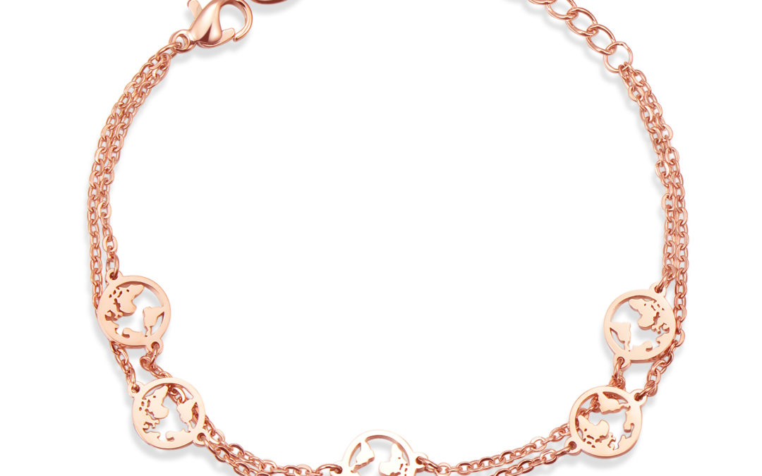 5 Welten Armband ROSÉ GOLD