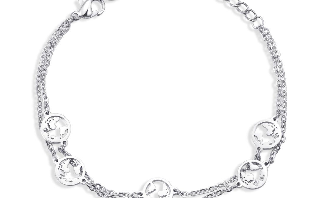 5 welten armband Silber