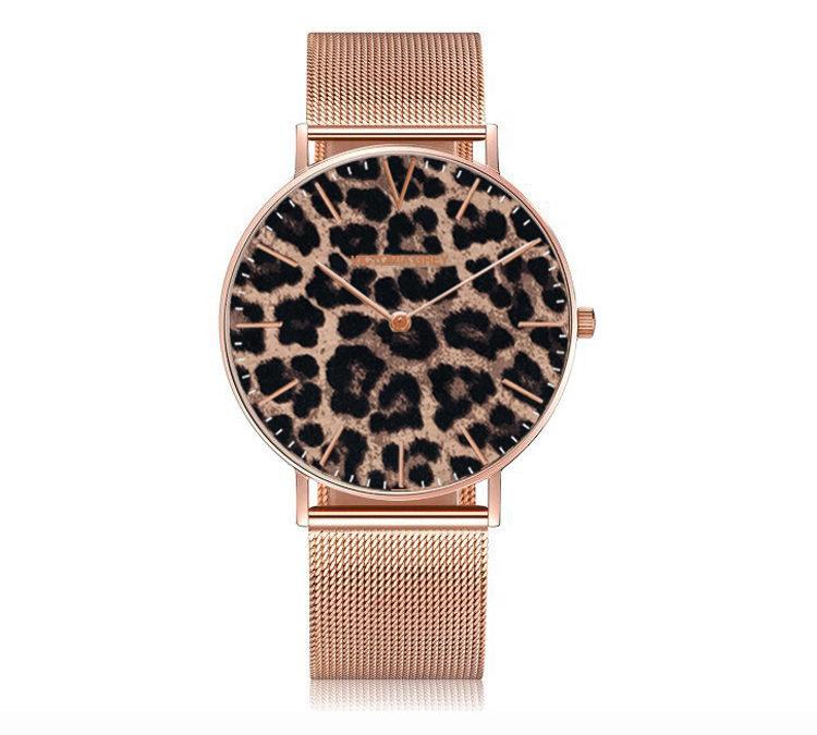 Leopard Rosé Gold 38mm